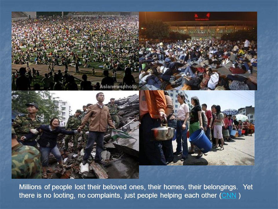 Millions of people lost their beloved ones, their homes, their belongings.
