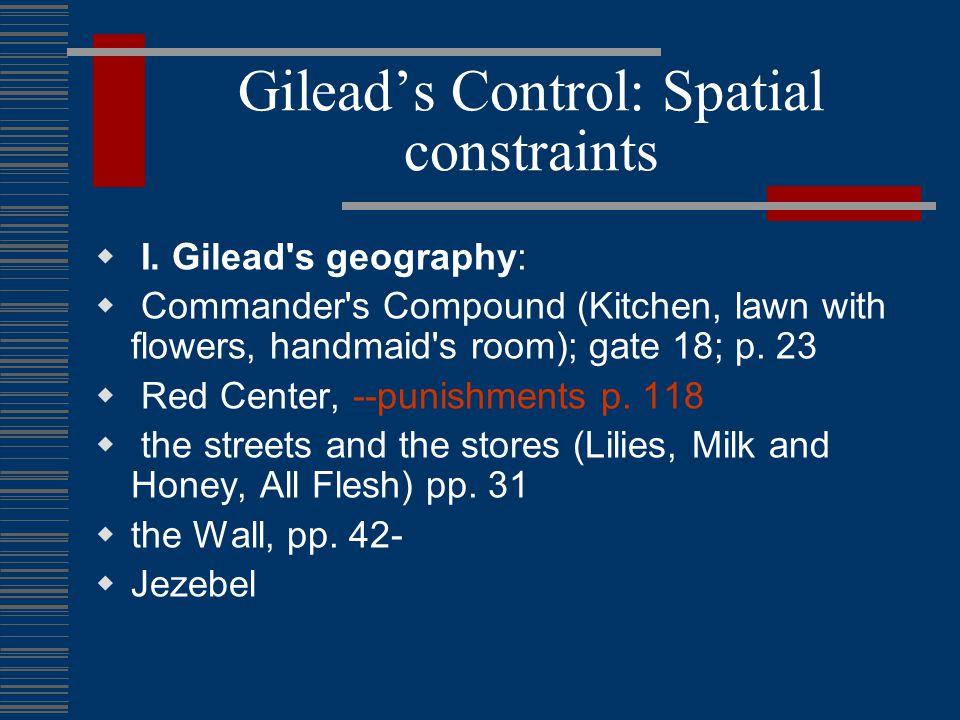 Literary Association of Gilead 1. Scarlet Letter 2.American Renaissance (e.g.