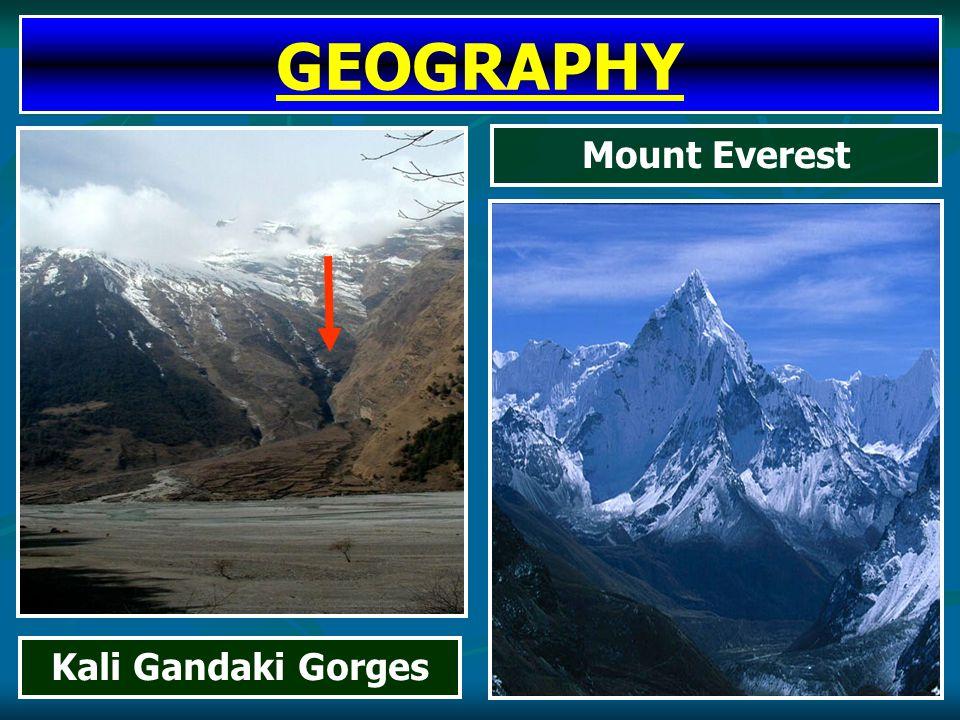 Mount Everest Kali Gandaki Gorges GEOGRAPHY