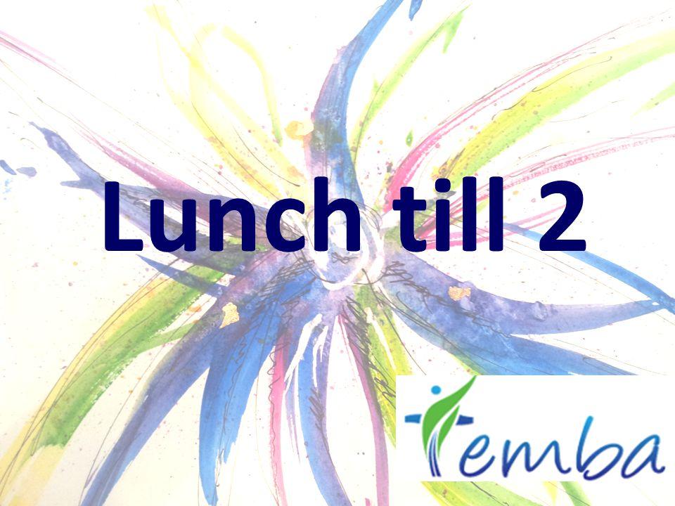 Lunch till 2