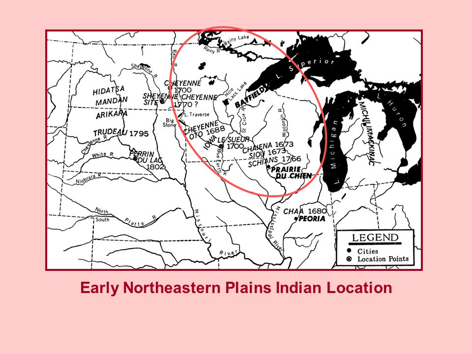 Early Northeastern Plains Indian Location