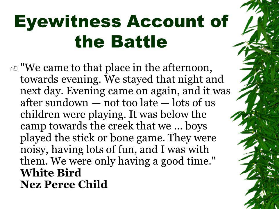Eyewitness Account of the Battle 