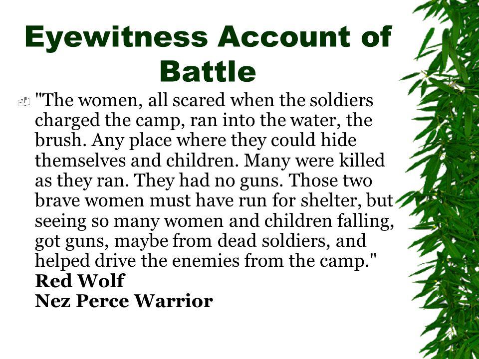 Eyewitness Account of Battle 