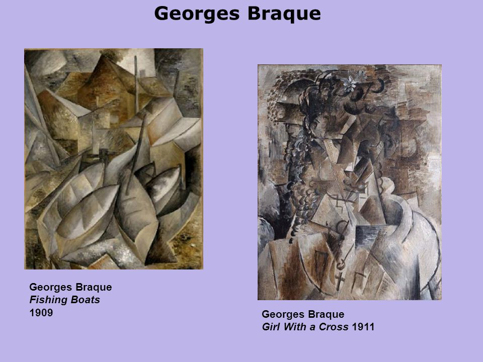 Georges Braque Georges Braque Fishing Boats 1909 Georges Braque Girl With a Cross 1911