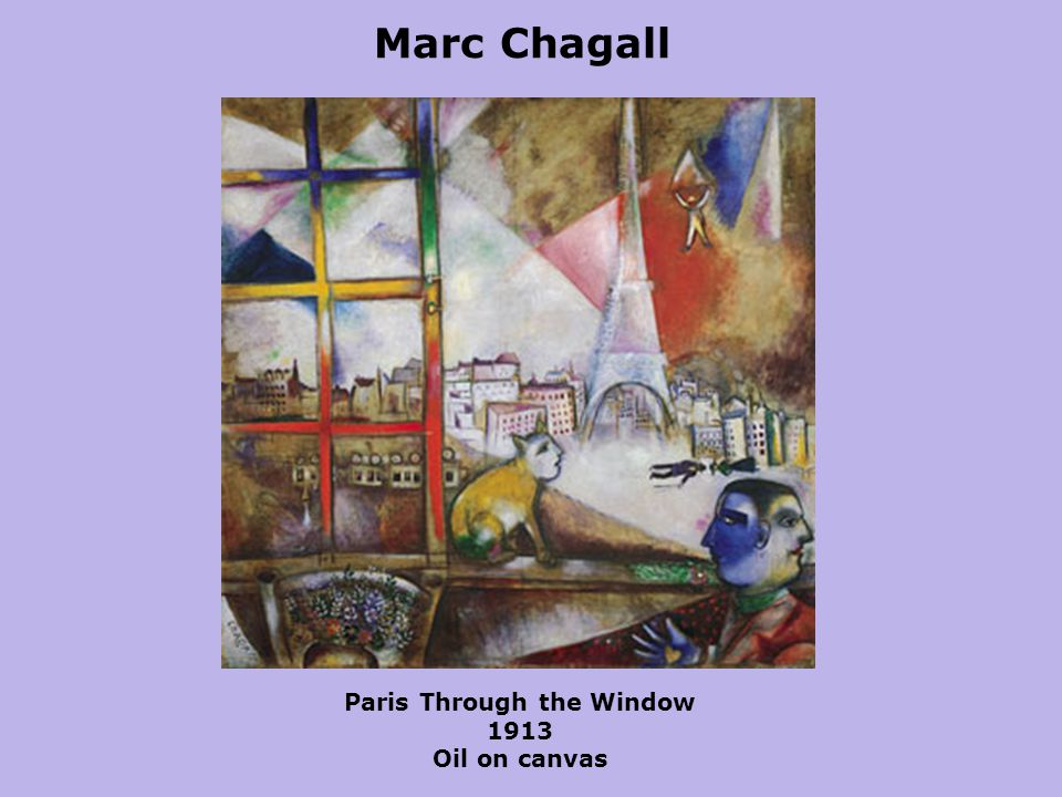 Marc Chagall Paris Through the Window 1913 Oil on canvas