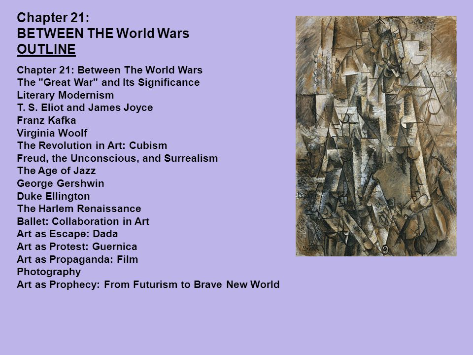Chapter 21: BETWEEN THE World Wars OUTLINE Chapter 21: Between The World Wars The Great War and Its Significance Literary Modernism T.