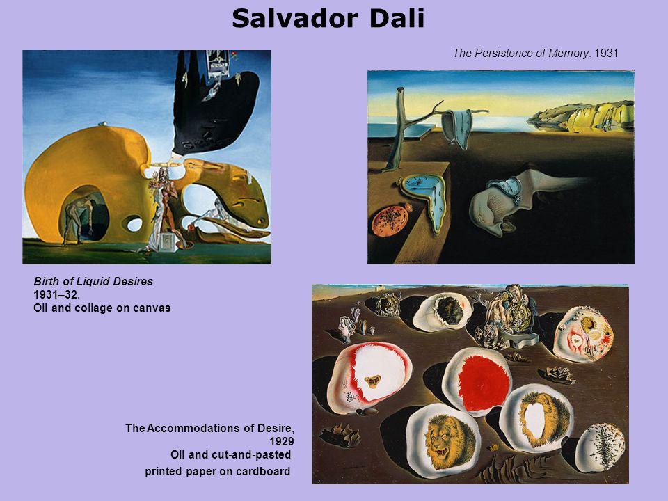 Salvador Dali Birth of Liquid Desires 1931–32.