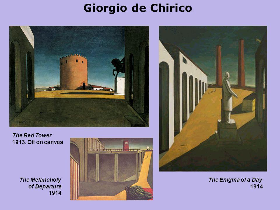 Giorgio de Chirico The Red Tower 1913.