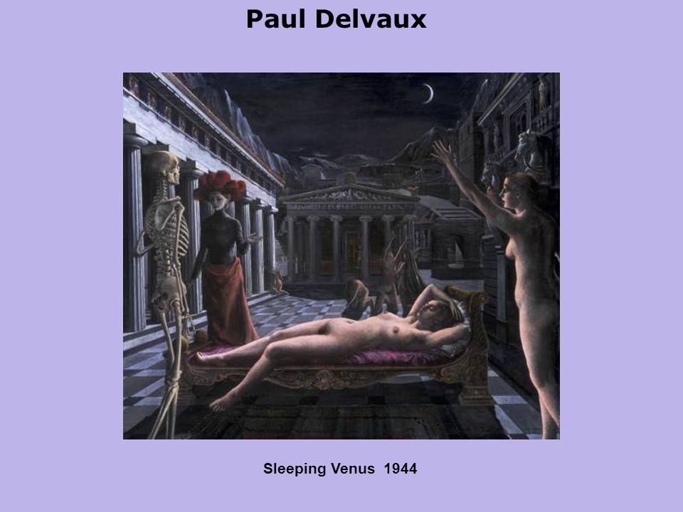 Paul Delvaux Sleeping Venus 1944