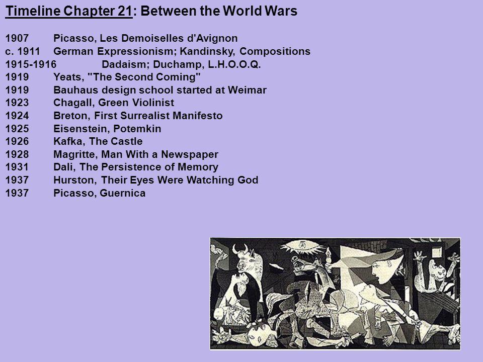 Timeline Chapter 21: Between the World Wars 1907 Picasso, Les Demoiselles d Avignon c.