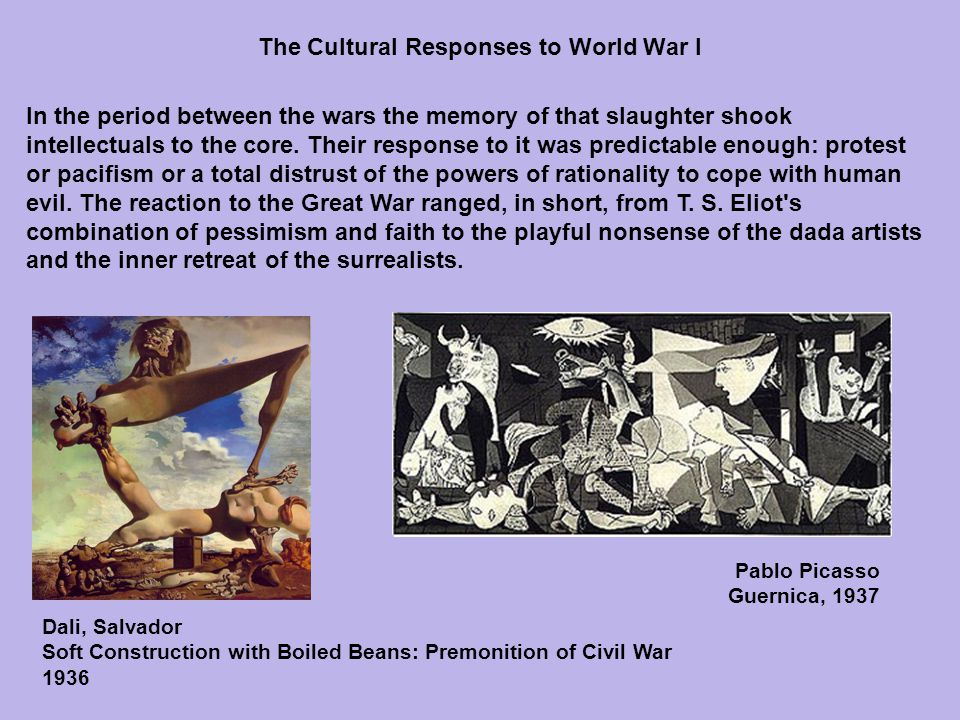 The technological advances that had made the war so terrible also gave promise of new forms of communication that would radically advance the arts into new and different fields.