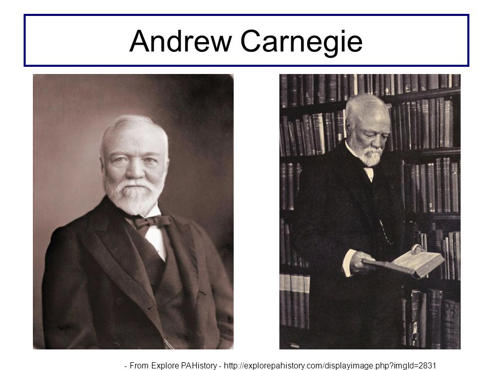 Andrew Carnegie - From Explore PAHistory - http://explorepahistory.com/displayimage.php imgId=2831