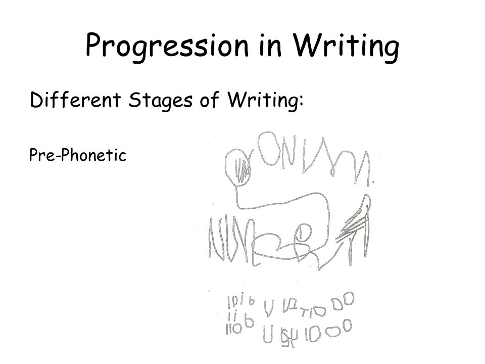 Progression in Writing Different Stages of Writing: Semi-Phonetic