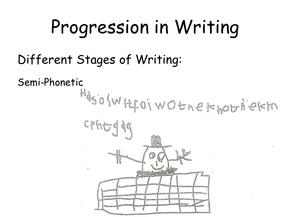 Progression in Writing Different Stages of Writing: Phonetic