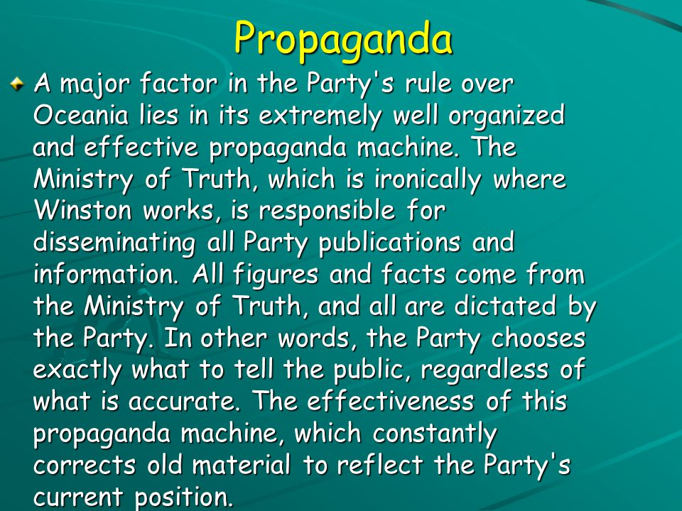 CENSORSHIP CENSORSHIP A major theme of Nineteen Eighty-Four is censorship, which is displayed especially in the Ministry of Truth, where photographs a