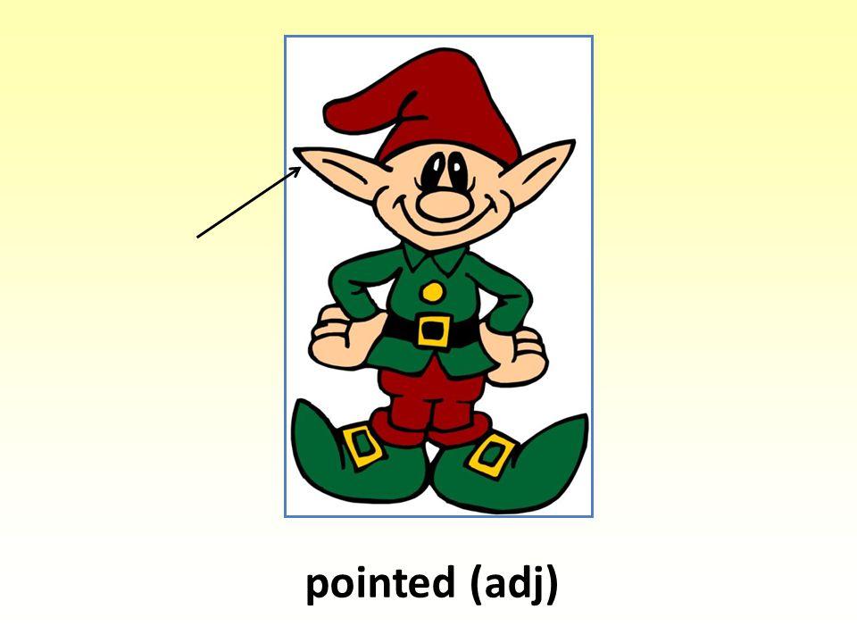 pointed (adj)