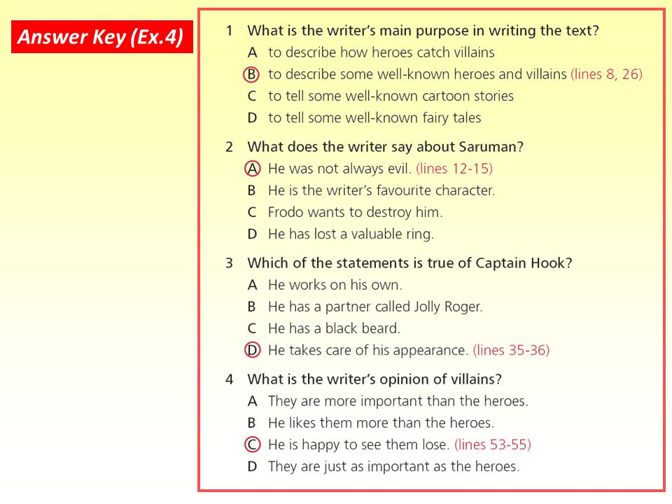 Answer Key (Ex.4)