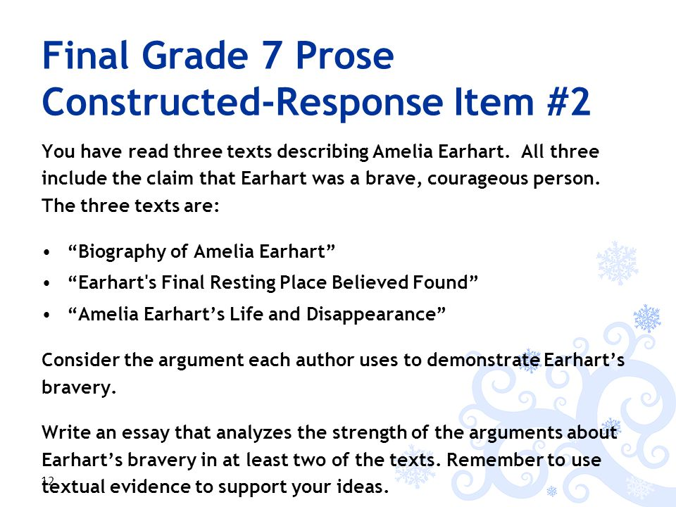You have read three texts describing Amelia Earhart.