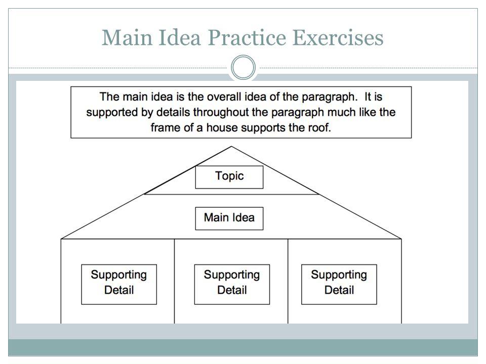 Main Idea Practice Exercises