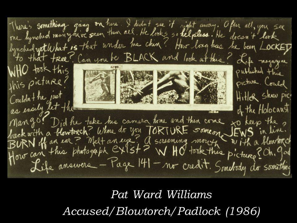 Pat Ward Williams Accused/Blowtorch/Padlock (1986)