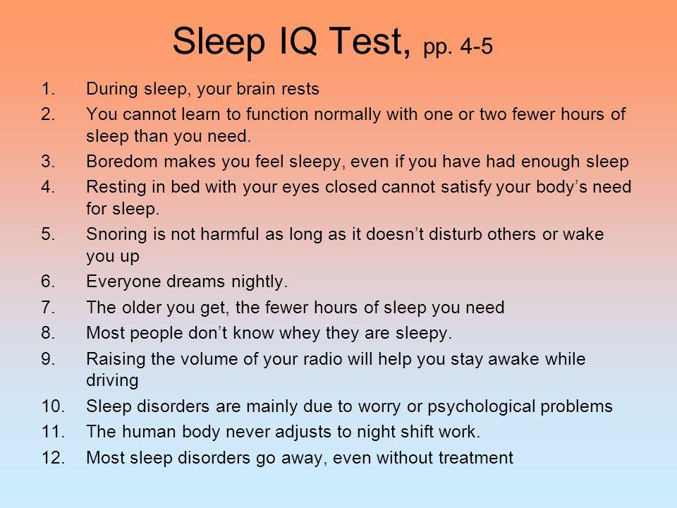 Exercise: Keeping a Sleep Diary Handout 5-4: Sleep Diary