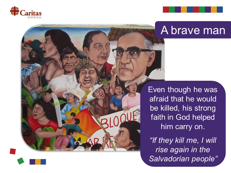 On 23 March 1980, Oscar Romero appealed on the radio for soldiers and police officers to stop repressing the people.