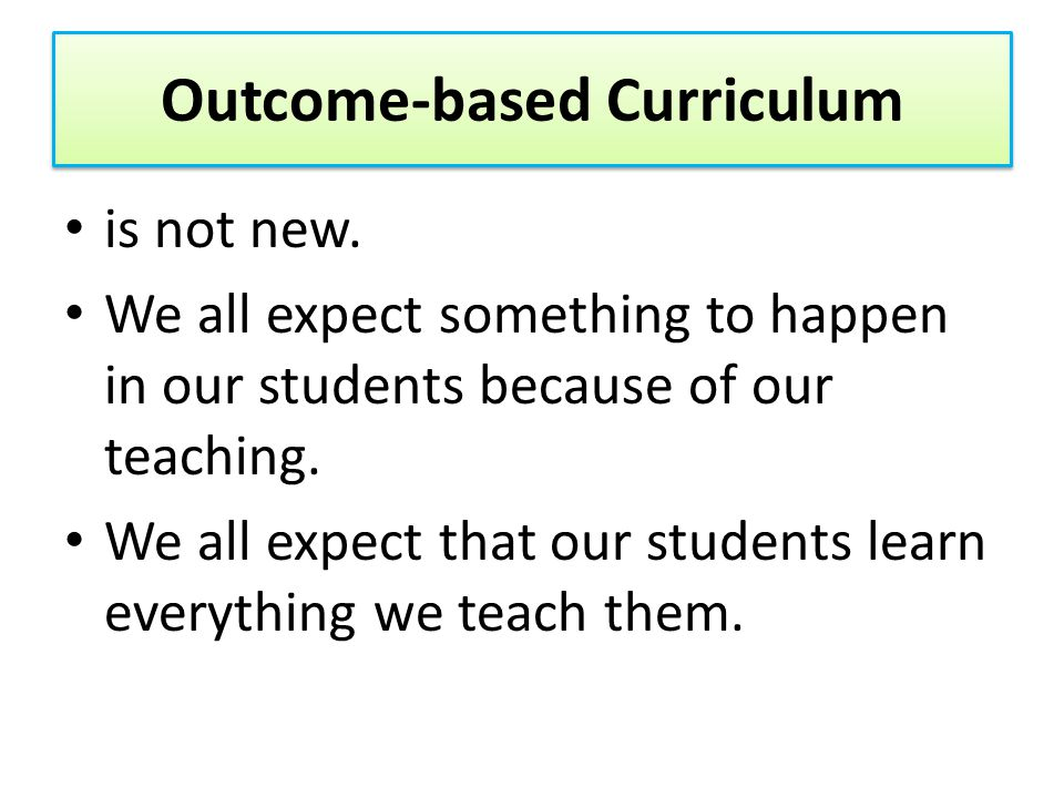 Are teachers expected to change.Are students expected to change.