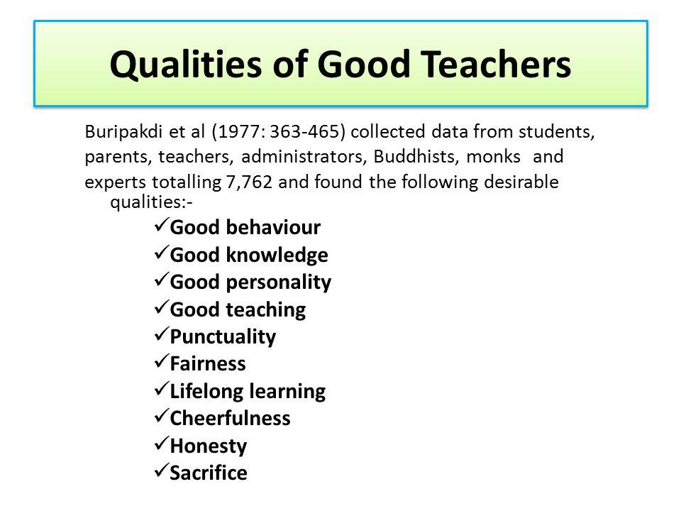 Qualities of Good Students A GOOD LEARNER Personal Appeal of English: --Love for English --Like English --Determination to learn English --See its importance Self-discipline --Regular practice --Full class attendance --Active class participation --Find opportunities to use what is learnt Know How to Learn --Researching skills --Being self-directed --Lifelong learning --Time management Personal Orientation: --Confident --Determined --Serious about English --Independent --Effortful --Unrelenting --Extroverted --Hard-working --Brave to use English