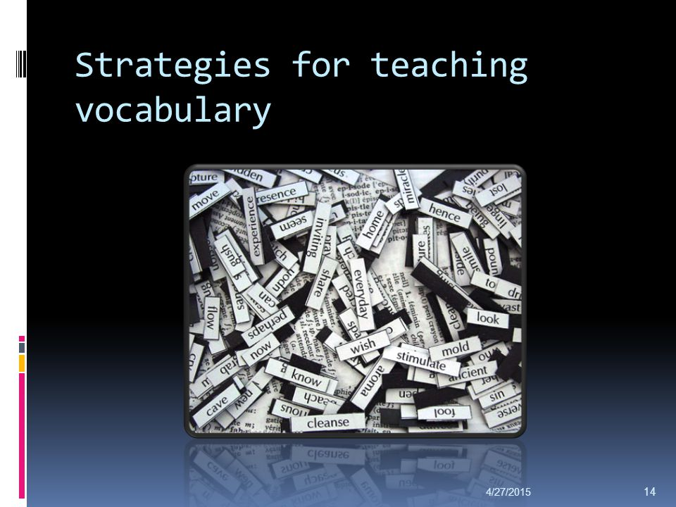 Strategies for teaching vocabulary 4/27/2015 14