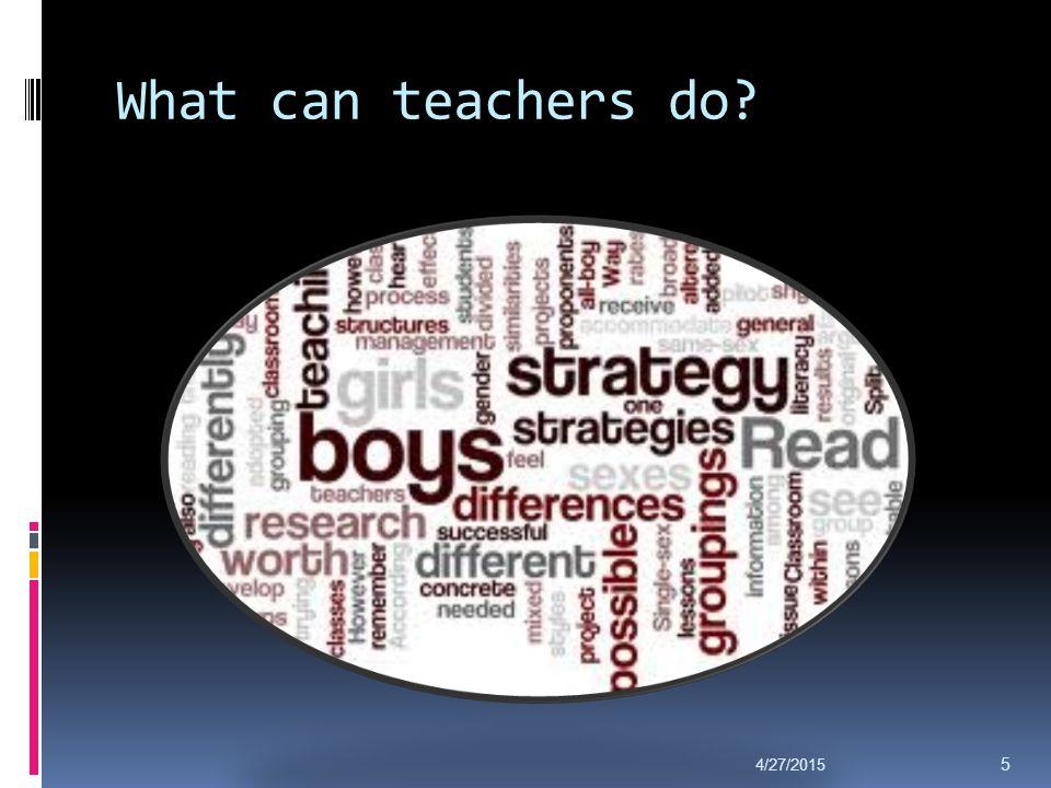 What can teachers do? 4/27/2015 5