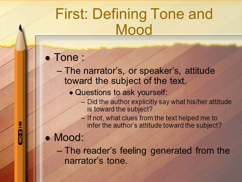 Let's Practice with non-print texts Turn to a blank sheet of paper in your notebook Divide the paper into thirds down the middle Label them: subject, tone, mood