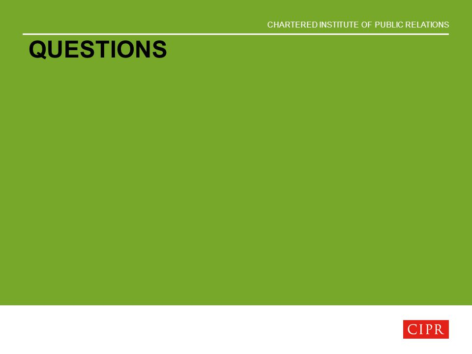 CHARTERED INSTITUTE OF PUBLIC RELATIONS QUESTIONS