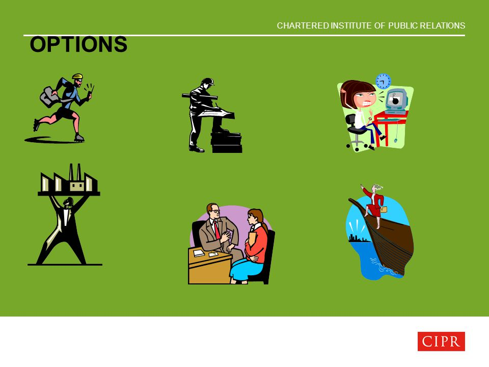 CHARTERED INSTITUTE OF PUBLIC RELATIONS OPTIONS