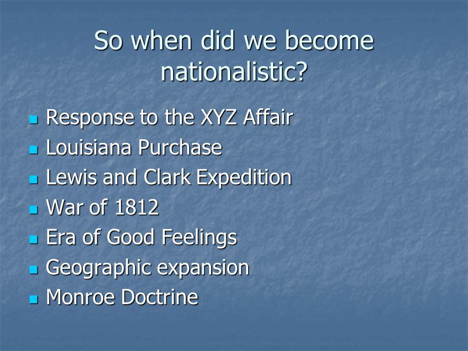 Era of Good Feelings Post-War of 1812: U.S.