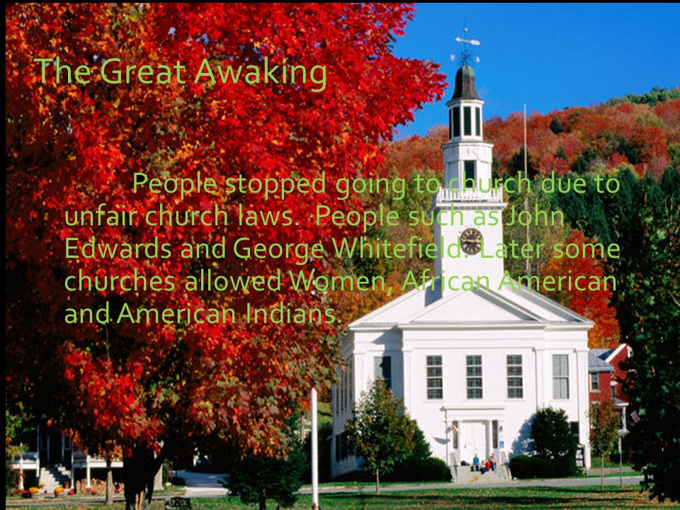 People stopped going to church due to unfair church laws.