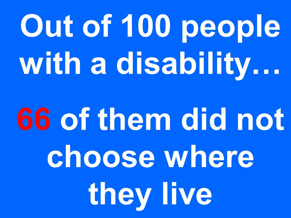 Out of 100 people with a disability… 77 of them did not choose their roommate