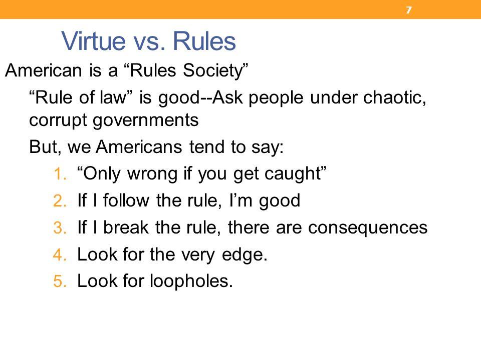 7 Virtue vs.