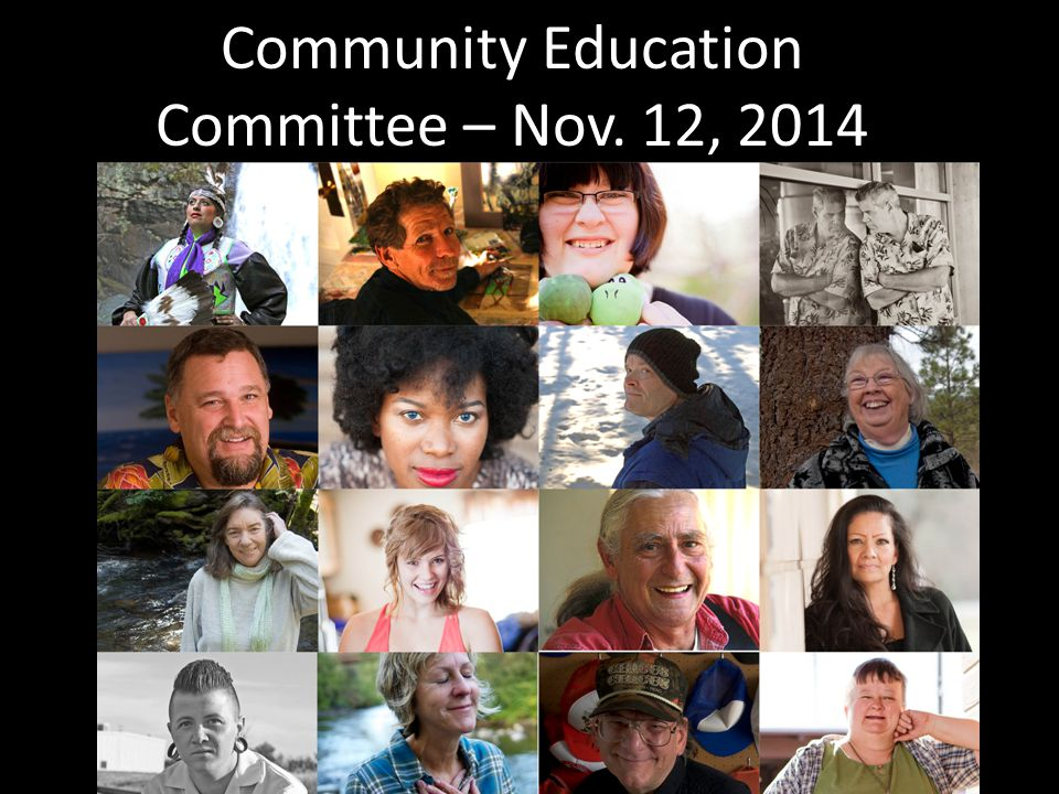 Community Education Committee – Nov. 12, 2014 StandAgainstStigma.com