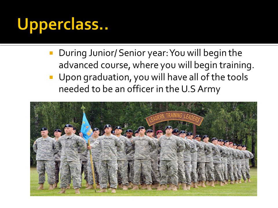  Become an officer through your ROTC program.