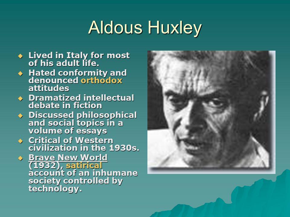 brave new world aldous huxley essay