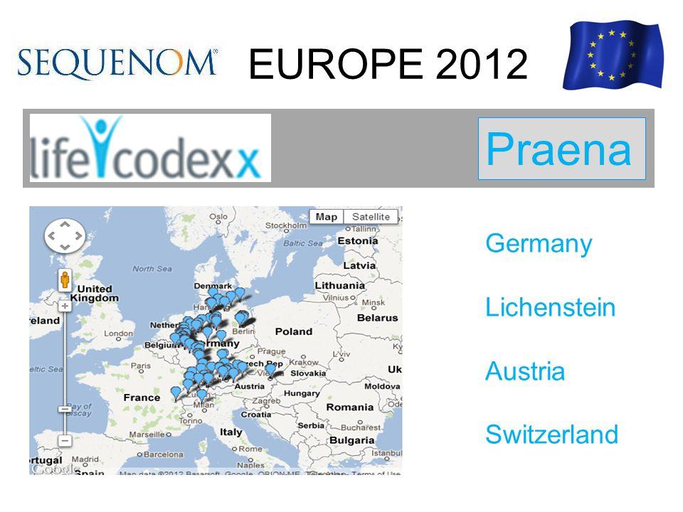 EUROPE 2012 Praena Germany Lichenstein Austria Switzerland