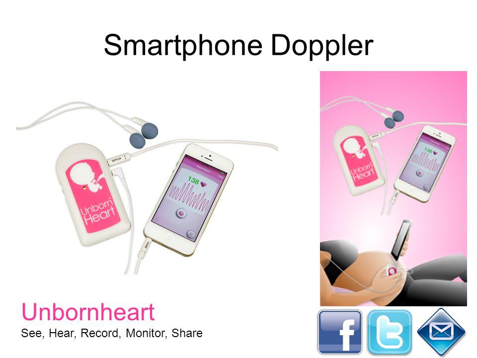 Smartphone Doppler Unbornheart See, Hear, Record, Monitor, Share