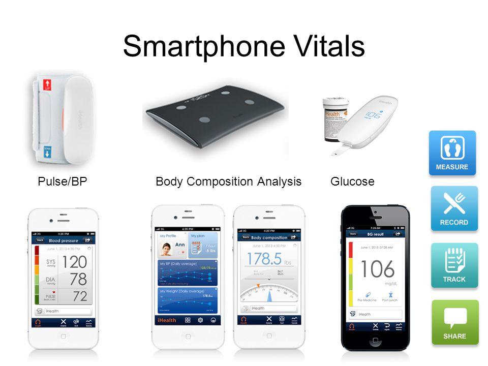 Smartphone Vitals Pulse/BP Body Composition AnalysisGlucose