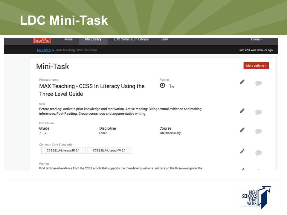 LDC Mini-Task