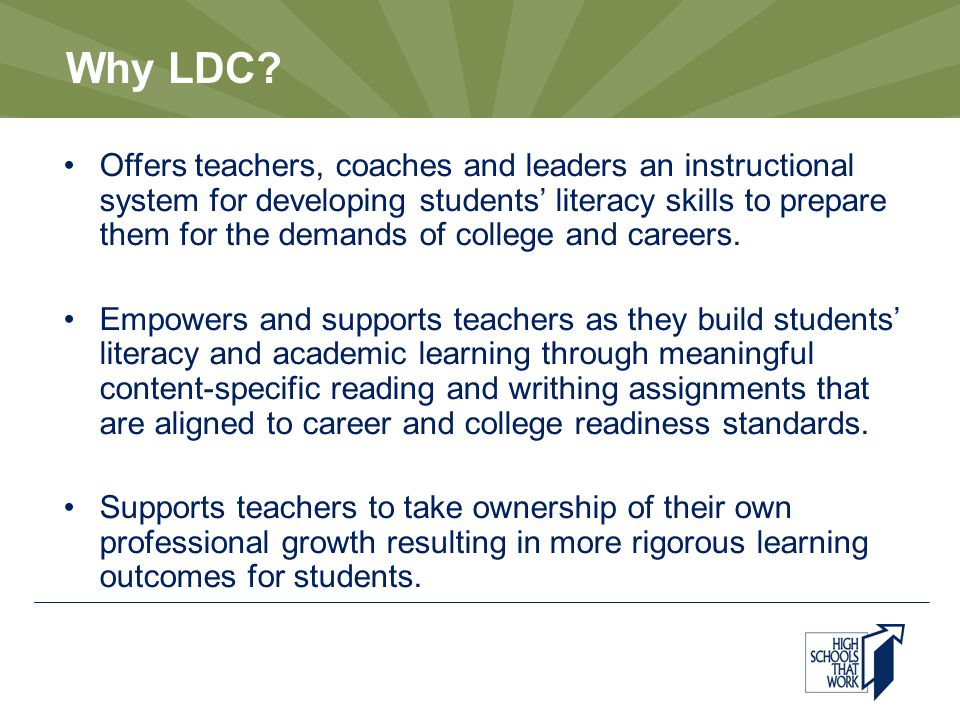 Why LDC.
