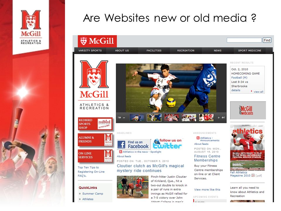 Are Websites new or old media