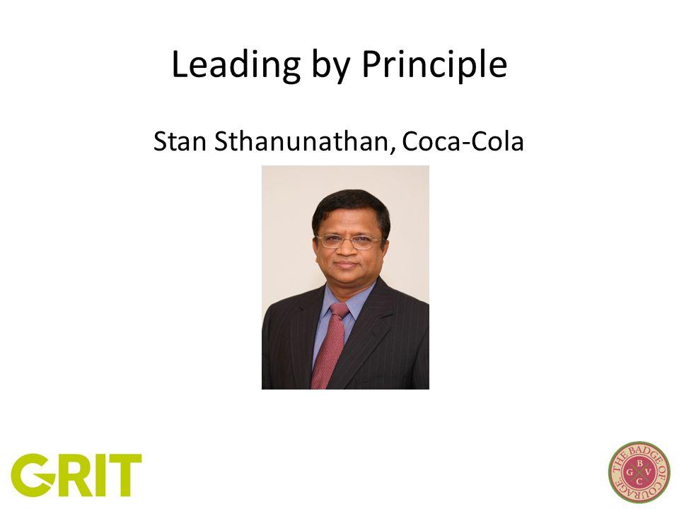 Leading by Principle Stan Sthanunathan, Coca-Cola