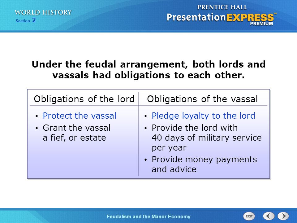 Feudalism and the Manor Economy Section 2 Society was very structured.