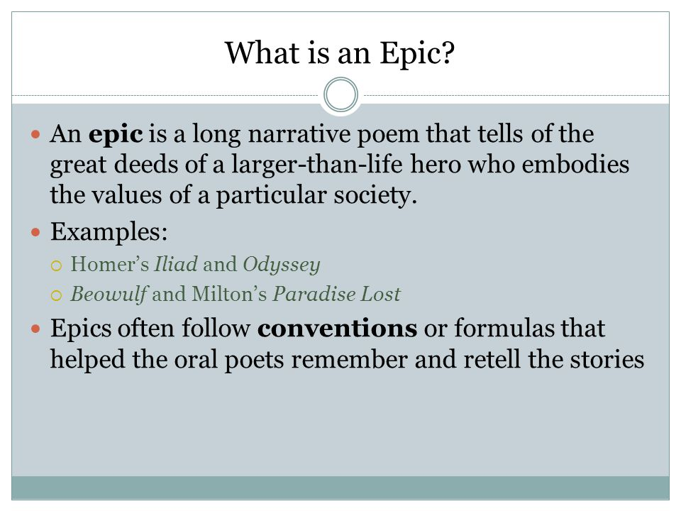 What is an Epic.