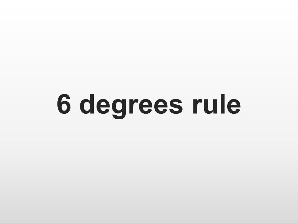 6 degrees rule